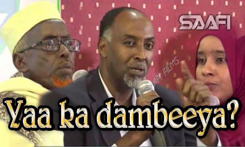 Yaa ka dambeeya dhibaatada Soomaaliya Dood kulul Saafi Films