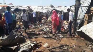 Photo of A Child Dies As A Blaze Razes Down An IDP Camp In Mogadishu