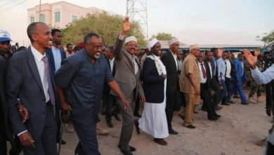 Photo of President Farmajo In Dhusamareb Town For Peace Trip