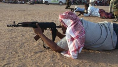 Photo of Al-Shabaab Militants In Jilib Train Somali Elders To Shoot