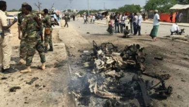 Photo of Roadside Bomb Hits Military Vehicle Near Somali Capital