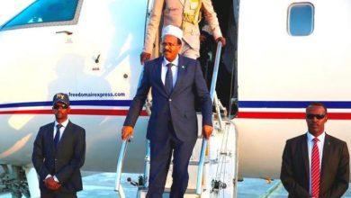 Somali President Arrives Back In Mogadishu From Saudi Arabia