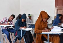 Somali students brave rough environment to sit exams
