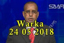 WARKA 24 05 2018 Raisulwasaare Kheyre oo sagaashan maalin u qabtay wasiirka amniga iyo maamulka gobolka Banaadir
