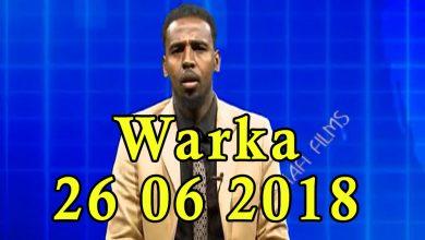 Photo of WARKA 26 06 2018 Madaxweyne Farmaajo oo taalada Daljirka Daahsoon ubaxyo dhigay