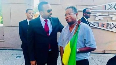 Photo of PM Abiy Ahmed made peace with a lone protester in Washington DC