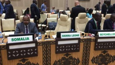 Photo of Somalia's State Minister For Foreign Affairs AU Executive Council Meeting