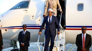 Photo of Somali President Arrives In Djibouti For Official Visit
