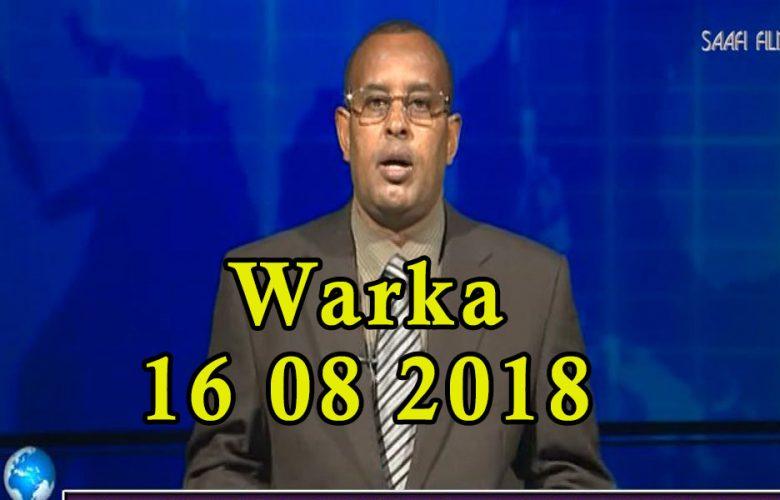WARKA 16 08 2018 Madaxweyne Farmaajo iyo wefdi uu hogaaminayo oo gaaray dalka Jabuuti