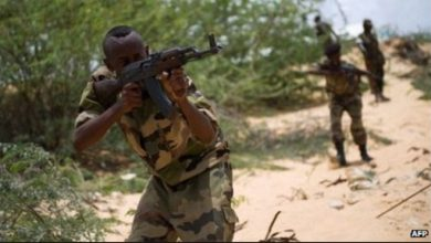 Photo of Four Somali soldiers killed in al-Shabab attack