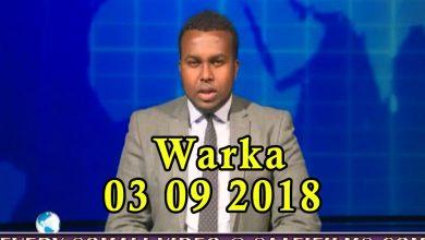 Photo of WARKA 03 09 2018 Xubno u tartamaya kursi ka maqan baarlamaanka Soomaaliya oo soo gaaray magaalada Dhuusomareeb