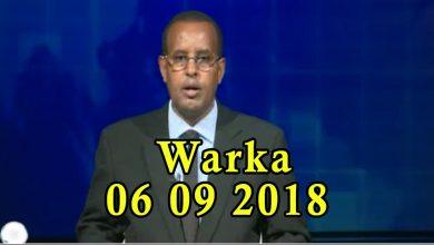 Photo of WARKA 06 09 2018 Dowlada Soomaaliya oo markii ugu horeysay ka hadashay shirka Kismaayo uga socda maamul goboleedyada