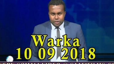 Photo of WARKA 10 09 2018 Gaari qarax siday oo lagu weeraray xaruntii degmada Hodan ee gobolka Banaadir