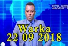 WARKA 22 09 2018 Labo qarax oo qasaaro geystay oo ka dhacay isgoyska Dabka ee magaalada Muqdisho