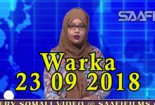 WARKA 23 09 2018 Madaxweynihii hore ee Soomaaliya Sh Shariif oo ka hadlay nin dhowaan lagu gubay magaalada Muqdisho