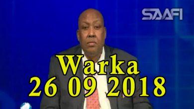Photo of WARKA 26 09 2018 Madaxweynaha maamulka Jubaland Axmed Madoobe oo booqday goobo laga xureeyey Al shabaab