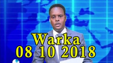 Photo of WARKA 08 10 2018 Jarmalka oo Soomaaliya lacago ugu deeqay heshiisna la saxiixday
