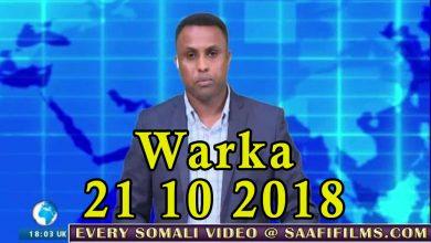 Photo of WARKA 21 10 2018 Shirkii maamul goboleedyada ee Garoowe oo dowlada Soomaaliya lagu dhaliilay
