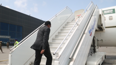 Photo of Somali President Lands In Jubba, South Sudanese Capital