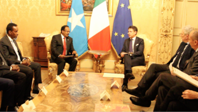 Photo of Somali President Meets With Italian PM In Rome