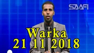 Photo of WARKA 21 11 2018 Madaxweyne Maxamed Cabdulaahi Farmaajo oo kulan la qaatay madaxweynaha dalka Talyaaniga