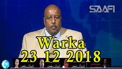 Photo of WARKA 23 12 2018 Shacab iyo wariyayaal tacsi u diray qaar kamid ah shaqaalaha telefishinka Universal oo uu kamid yahay Cawil Daahir oo qarax lagu dilay