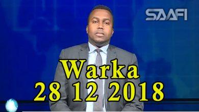 Photo of WARKA 28 12 2018 Qarax dhimasho iyo qasaaro sababay oo lagu weeraray guri magaalada Beledweyne ku yaala oo dhalinyaro degeneyd