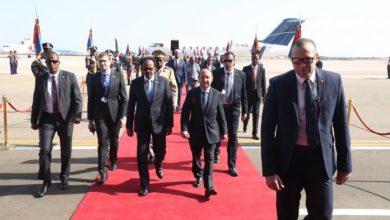 Photo of Somali President Arrives In Egypt