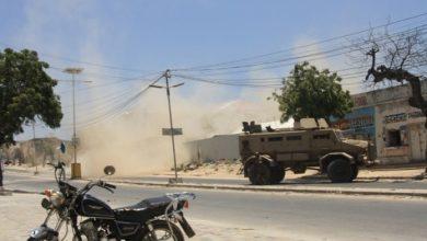 Photo of Roadside Bomb Targets AU Military Convoy In Mogadishu