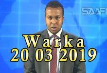 WARKA 20 03 2019 Boqolaal ka tirsan ciidamada xooga dalka oo jawaab uga dhigay hadalkii Rw Kheyre in ay kasoo baxaan furimihii