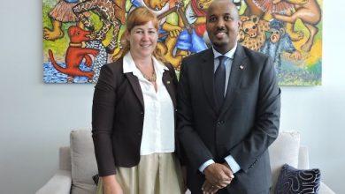 Photo of Irish Chargé d'Affaires meets Somaliland representative at Irish Embassy in Nairobi