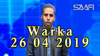 Photo of WARKA 26 04 2019 Gudoomiye Yariisow oo ka qeybgalay munaasibad lagu soo dhaweynayey gudoomiyaha Wadajir