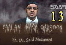 13 Caalam inaga qarsoon (Jinka & shayaadhiinta) Sheekh Siciid Maxamed Faarax