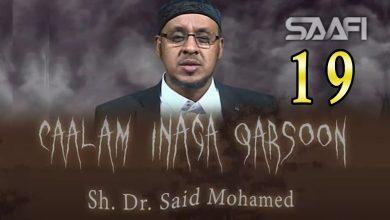 19 Caalam inaga qarsoon (Jinka & shayaadhiinta) Sheekh Siciid Maxamed Faarax