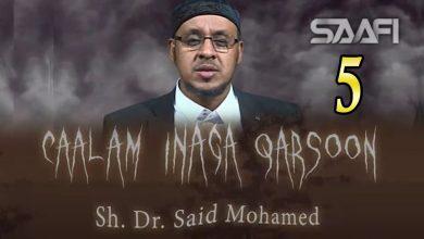 5 Caalam inaga qarsoon (Jinka & shayaadhiinta) Sheekh Siciid Maxamed Faarax