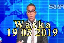 WARKA 19 05 2019 Qarax khasaaro geystay oo loo adeegsaday gaari oo lagu weeraray maqaayad Muqdisho ku taal