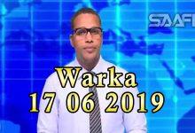 WARKA 17 06 2019 Raisulwasaare Xasan Cali Kheyre oo lagu casuumay hayad Mareykan ah oo Muqdisho xafiis ka furutay