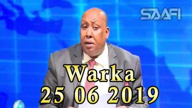 Photo of WARKA 25 06 2019 Raisulwasaare Xasan Cali Kheyre oo goob fagaare ah kula hadlay shacabka magaalada Dhuusomareeb