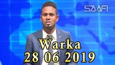 WARKA 28 06 2019 Madaxweyne Xaaf iyo Raisulwasaare Kheyre oo heshiis ku wada saxiixday magaalda Cadaado