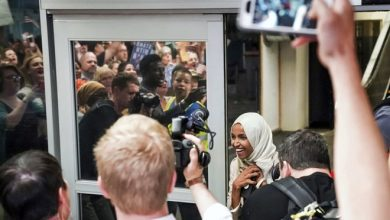 Photo of Ilhan Omar's constituents 'proud to stand by her' over Trump's racist words