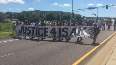 Photo of Twin Cities marches on Eagan mall demanding justice for Isak Aden