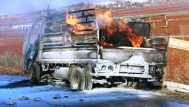 Photo of Kenyan Military Burns Down A Lorry Truck Near Somalia Border