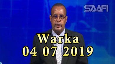 Photo of WARKA 04 07 2019 Dowlada Soomaaliya oo sheegtay in Dalka Guinea ay xiriirka u jartay