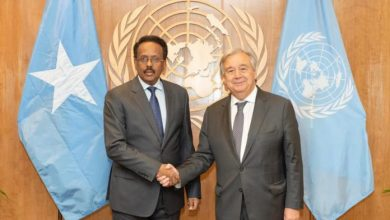 Photo of Somali President Meets With UN Chief In New York