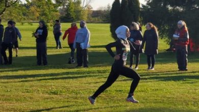 Photo of Ohio student-athlete disqualified from race for wearing hijab
