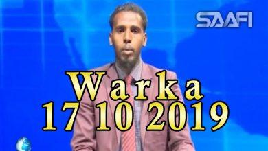 Photo of WARKA 17 10 2019 Saraakiil ciidan kasoo goostay Soomaaliland oo xaflad soo dhaweyn ah loo sameeyey