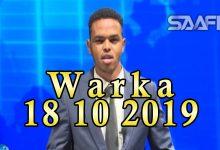 Photo of WARKA 18 10 2019 Madaxweyne Deni oo sheegay in uu xalinayo khilaafka dowlada iyo Jubaland