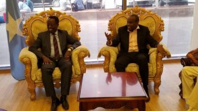 Photo of Djibouti's Minister Of Information In Mogadishu For Official Visit