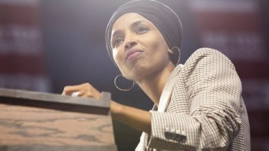 Photo of Ilhan Omar's Republican opponent in Twitter ban over 'hanging' posts