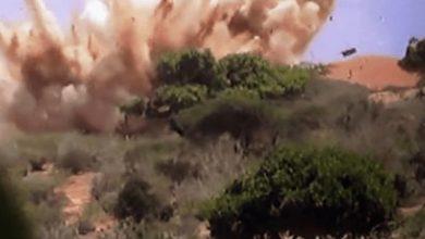 Photo of Bomb explosion in Somali troops, al-Shabaab clash